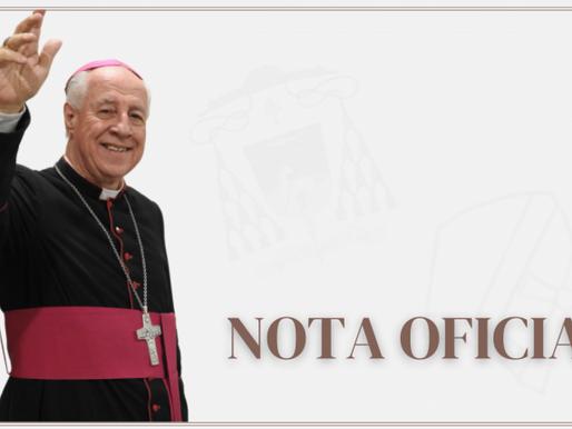 Arcebispo de Juiz de Fora testa positivo para Covid-19, mas passa bem