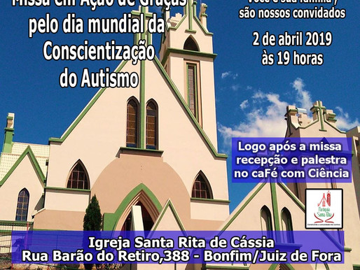 Paróquia Santa Rita realiza missa em ação de graças pelo Dia Mundial de Conscientização do Autismo