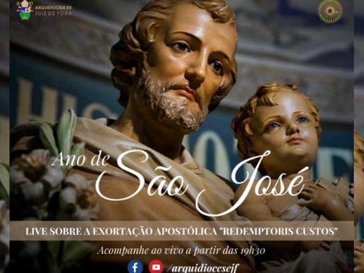 Arquidiocese promove live sobre São José