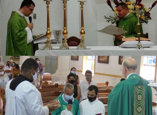 Paróquias de Rio Novo e São João Nepomuceno recebem novos padres