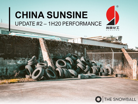 China Sunsine | 1H20 Update