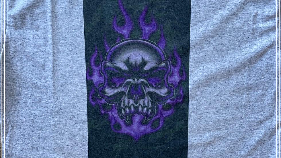 Purple Ghost flame skull