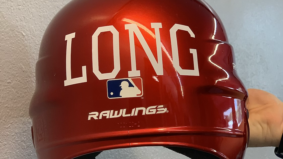Custom - name on helmet