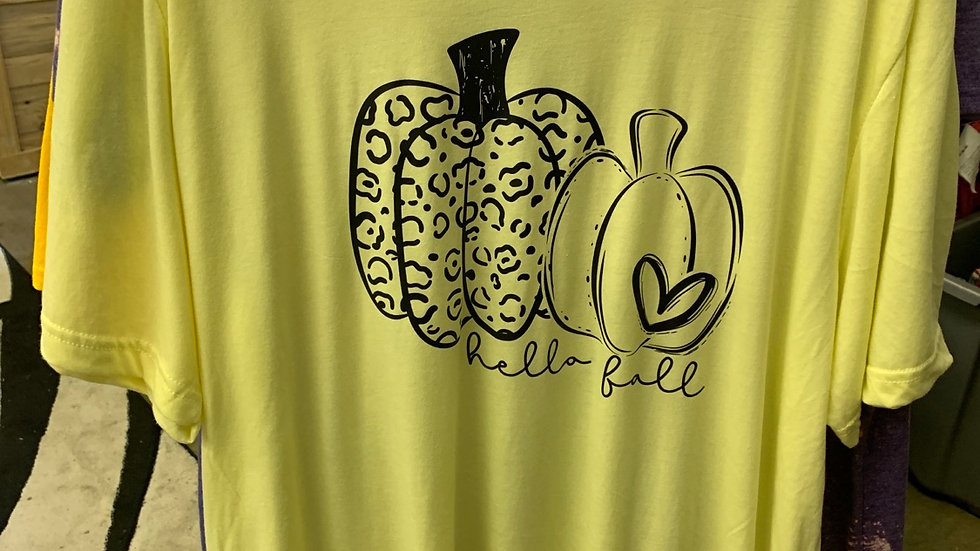 Yellow Tee Hello Fall