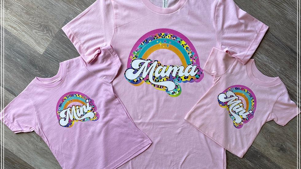 Mama or Mini Leopard Rainbow