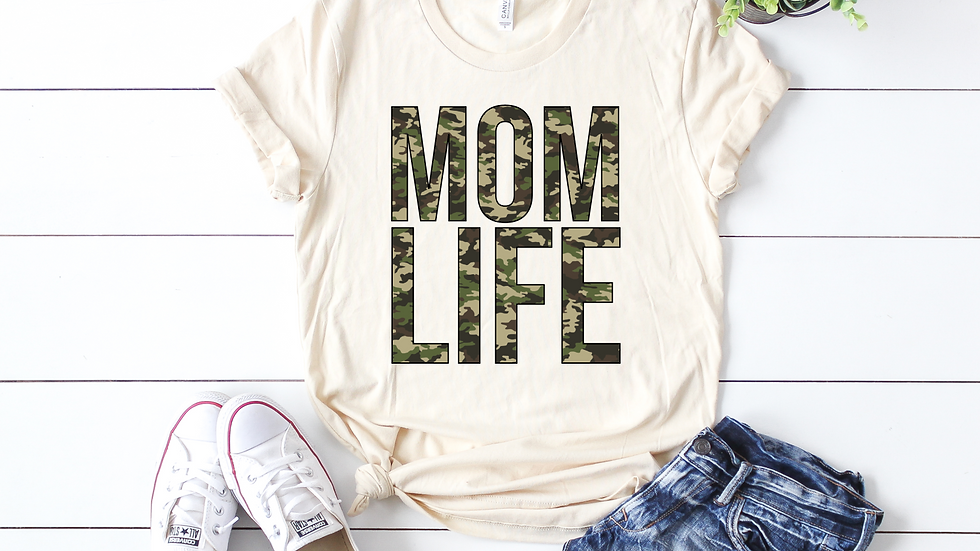 Camo Mom Life Tee