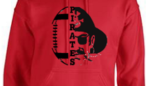 Hoodie Football w/ Pirate Logo Adult/Youth