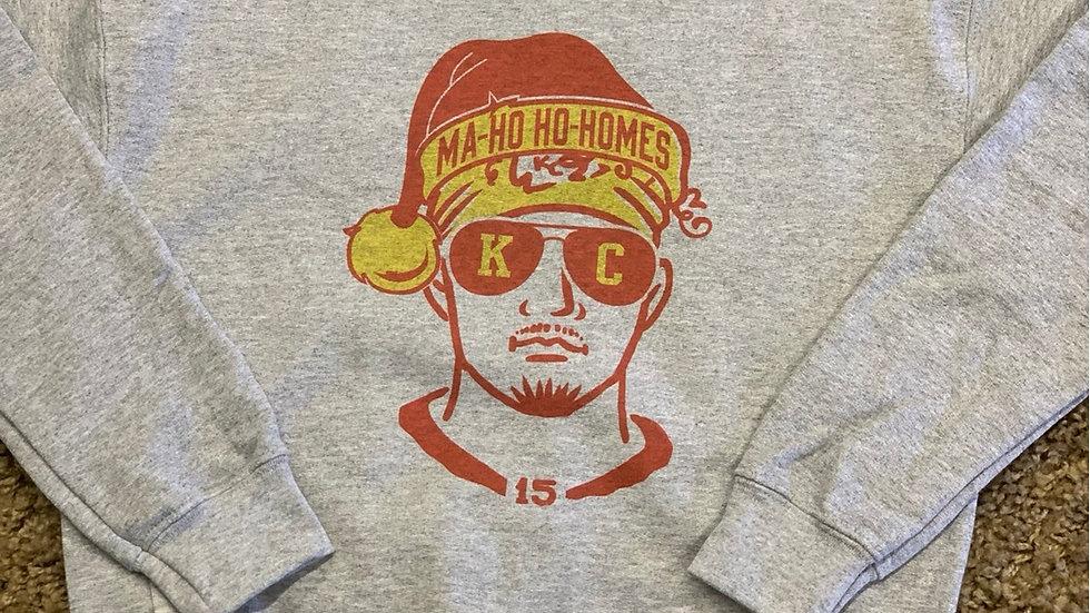 Youth Mahomes Christmas sweatshirt