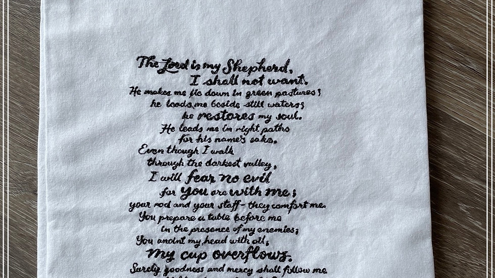 Psalm 93 The Lord is my shepherd