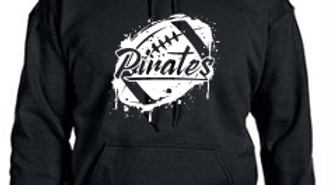 Dripping Pirate Football Hoodie - Adult/Youth