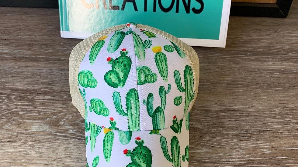Cactus ponytail hat
