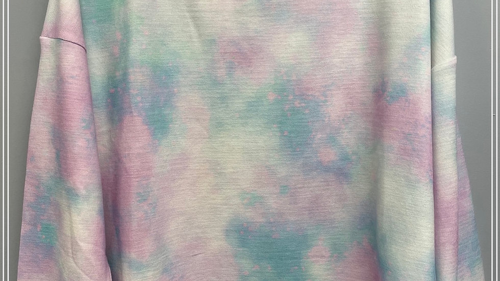 Water color tie dye sweatshirt