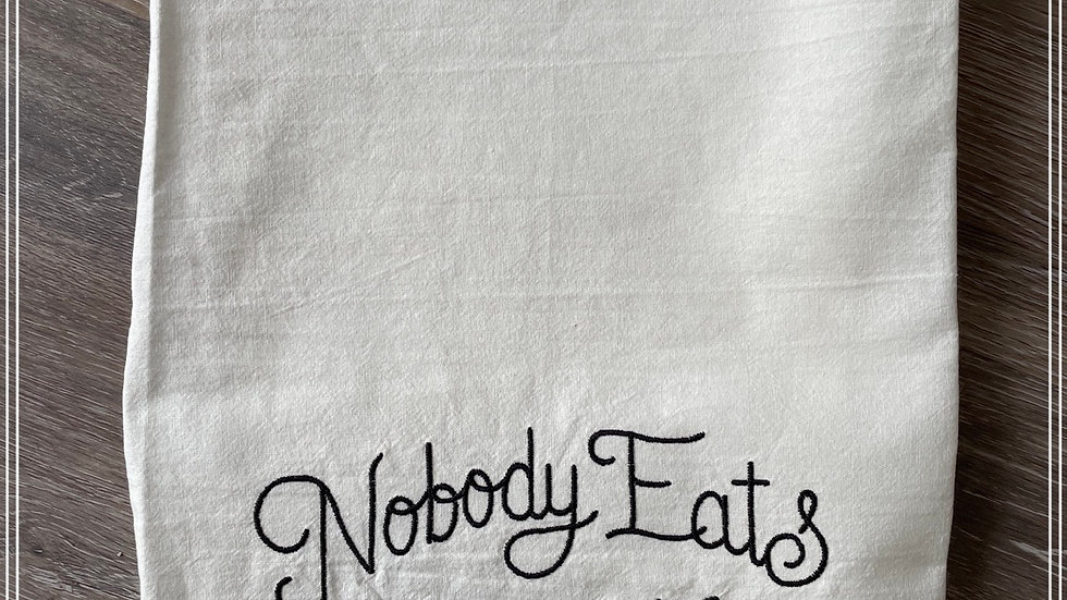 Nobody eats until we pray
