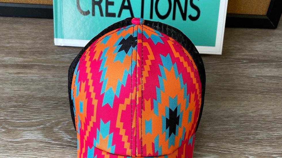 Aztec orange and pink