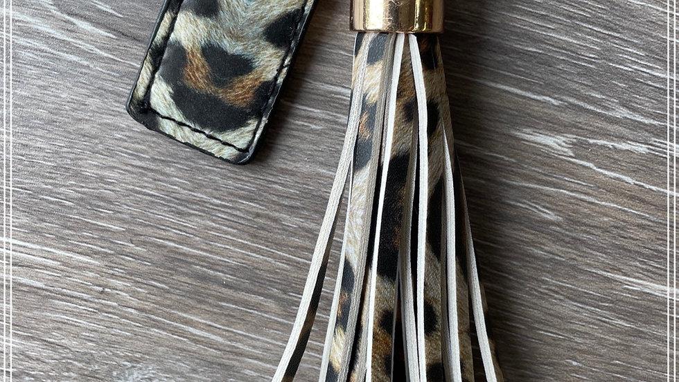 Fringe Leopard keychain
