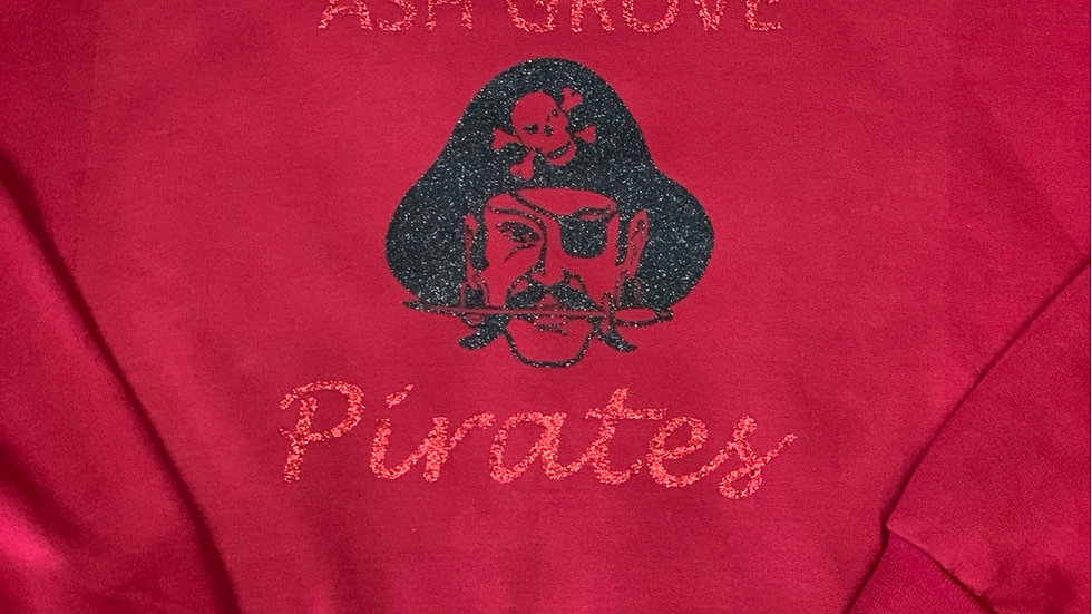 Ash Grove glitter pirates sweatshirt