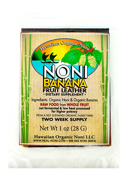 Noni Banana Fruit Leather (1 oz)