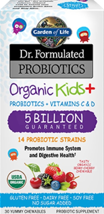 Dr. Formulated Organic Kids + 30 chews (5 Billion)