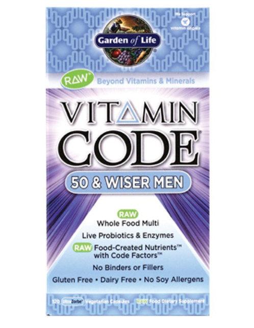 Vitamin Code 50 & Wiser Men (120 V Caps)