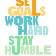 SET GOALS WORK HARD STAY HUMBLE  Logo, NBC Universal