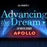 ADVANCING THE DREAM Show logo - Specials MSNBC, NBC Universal