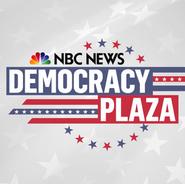 DEMOCRACY PLAZA LOGO NBC Universal