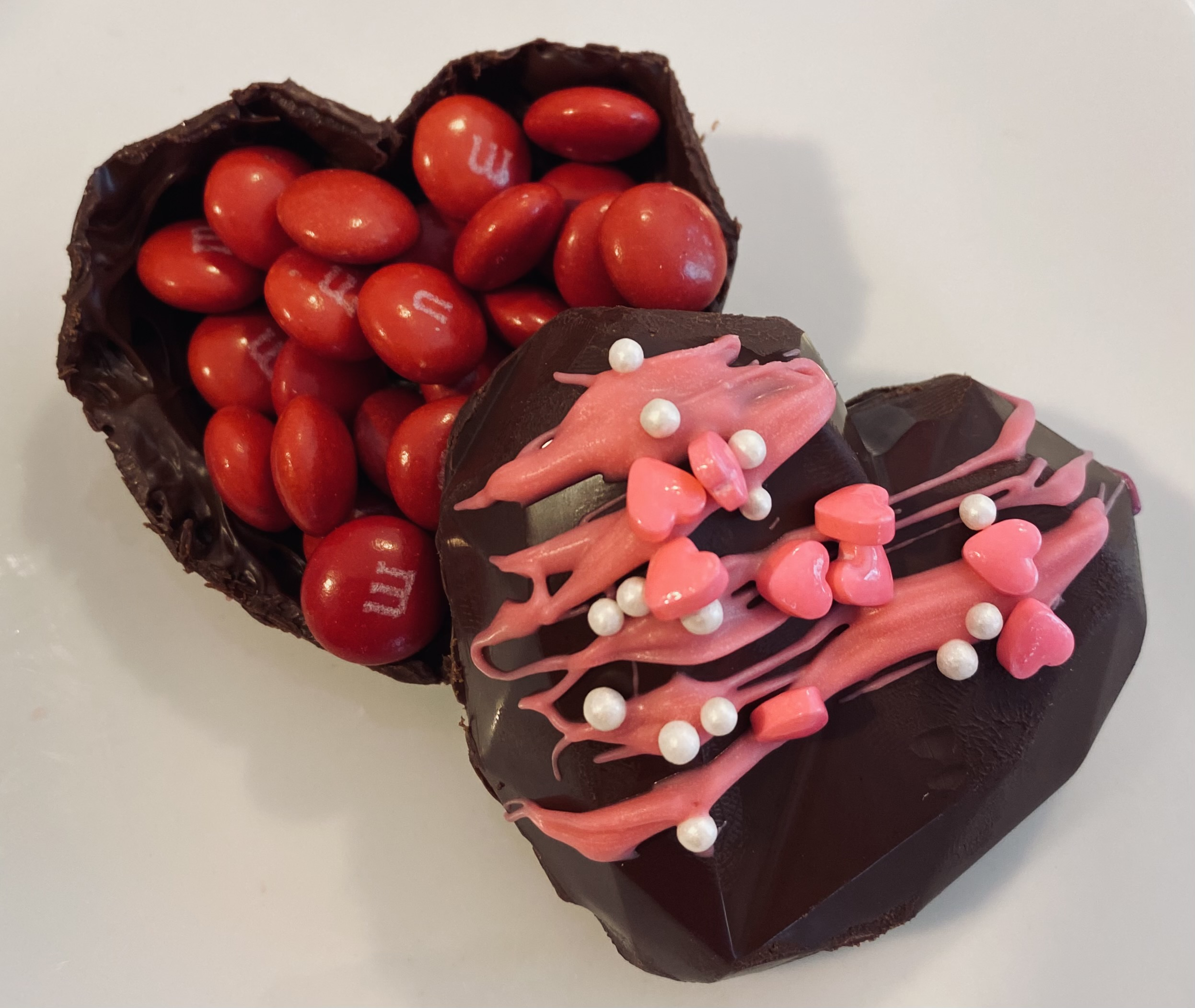 Candy filled Chocolate Heart Box