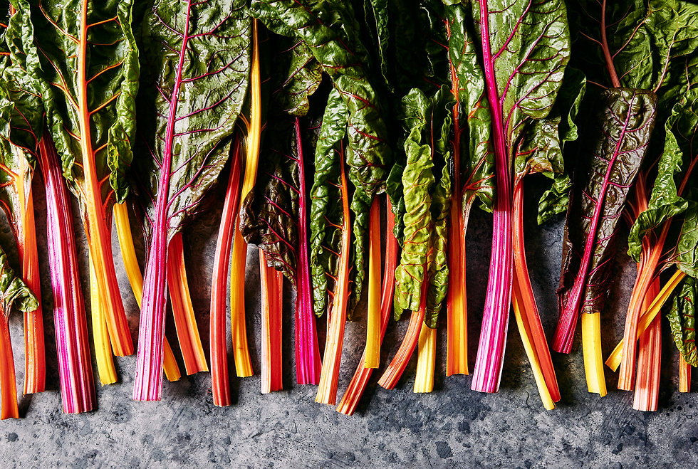 Melanie Underwood Rainbow Chard Background