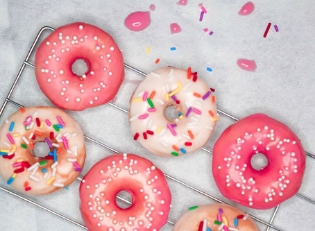 Sweet and Simple Valentine's Day Baked Donuts