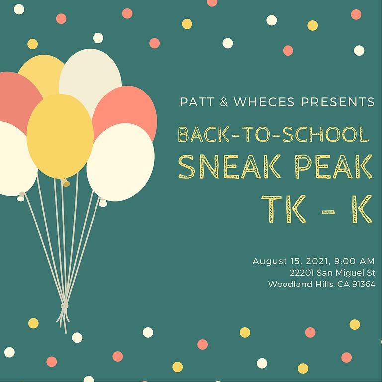 Sneak Peak - TK & K