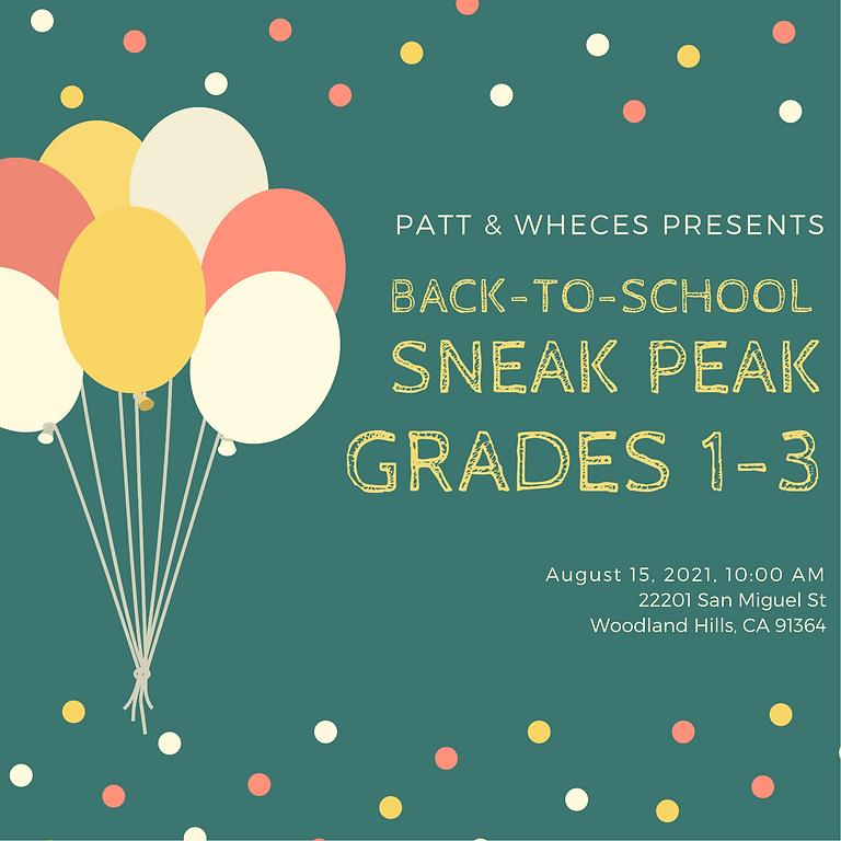 Sneak Peak - Grades 1-3