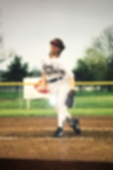 Sher Mueller pitching for False River Academy