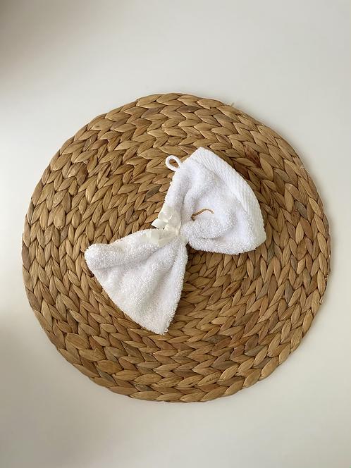 Composition - Gant de toilette uni - blanc
