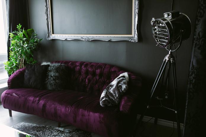Studio E Purple Couch