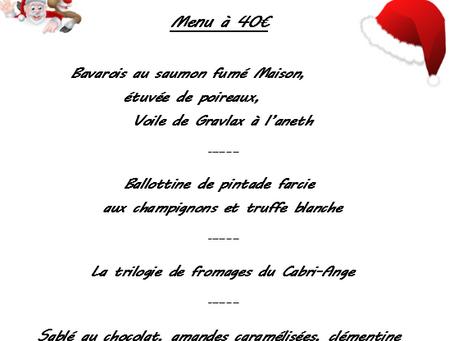 MENU DE NOËL (à retirer au 1011 route de st Nauphary à MONTAUBAN le 23 Décembre de 17h à 20h)