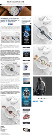 Montres De Luxe - Lock down 2020 intervi