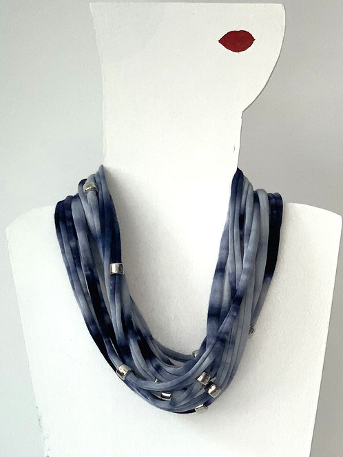 The Necklace - Blue Tie Dye