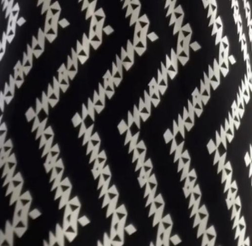 The Dress: Black Geo Stripe