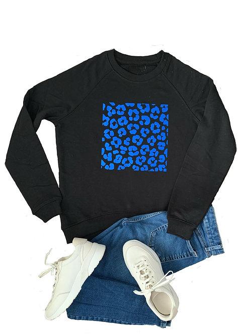 The Sweatshirt: Blue Leopard