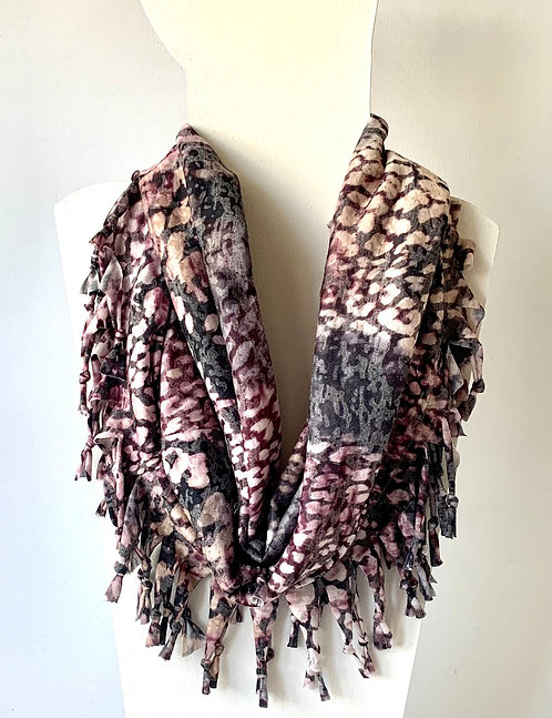 The Short Knotted Scarf: Pastel Leopard