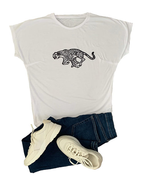 The Tee: Monochrome Jaguar