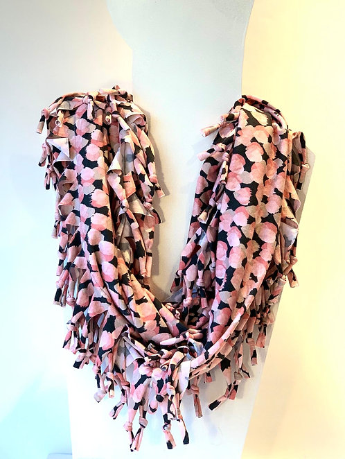 The Short Knotted Scarf: PinkGeo