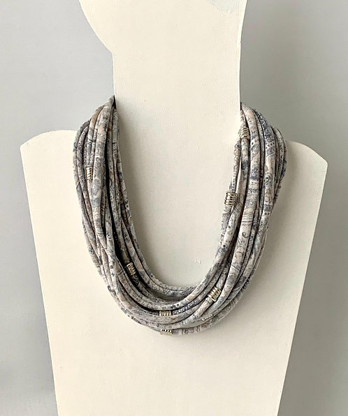 The Necklace - Pale Grey Paisley