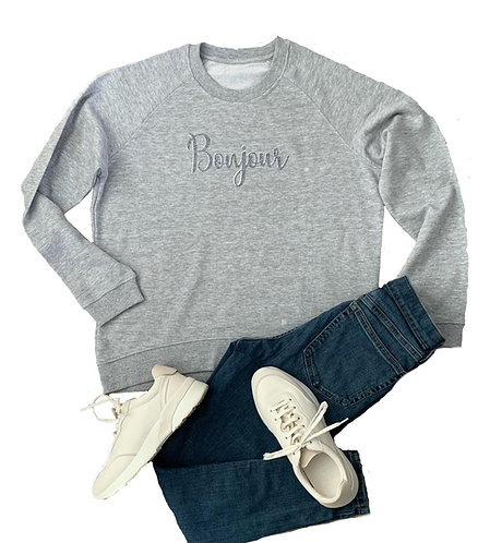 The Sweatshirt: Grey Bonjour