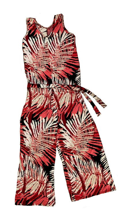 The Jumpsuit: Pink Palm Leaf
