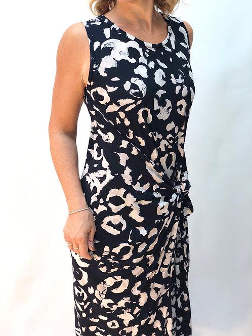 The Dress: Navy Leopard