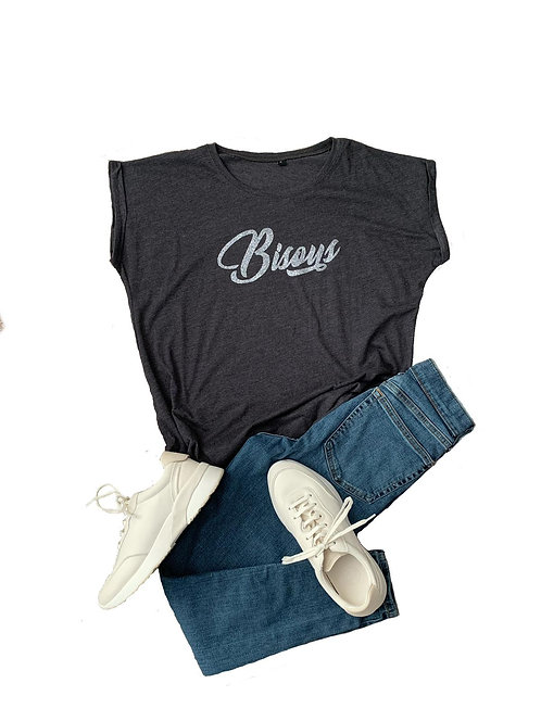The Tee: Charcoal Bisous