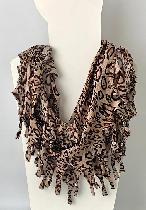 The Long Knotted Scarf - Leopard