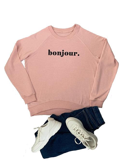 The Sweatshirt: Pink Bonjour