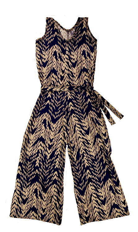 The Jumpsuit: Blue Abstract Tribal